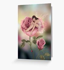 Rose Flower Fairy Greeting Card