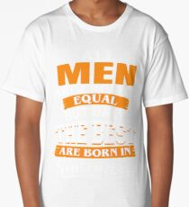 All men are created equal But only the best are born in September Long T-Shirt