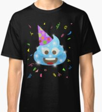 Blue Poop Funny Kids Emoji Birthday Party Classic T-Shirt