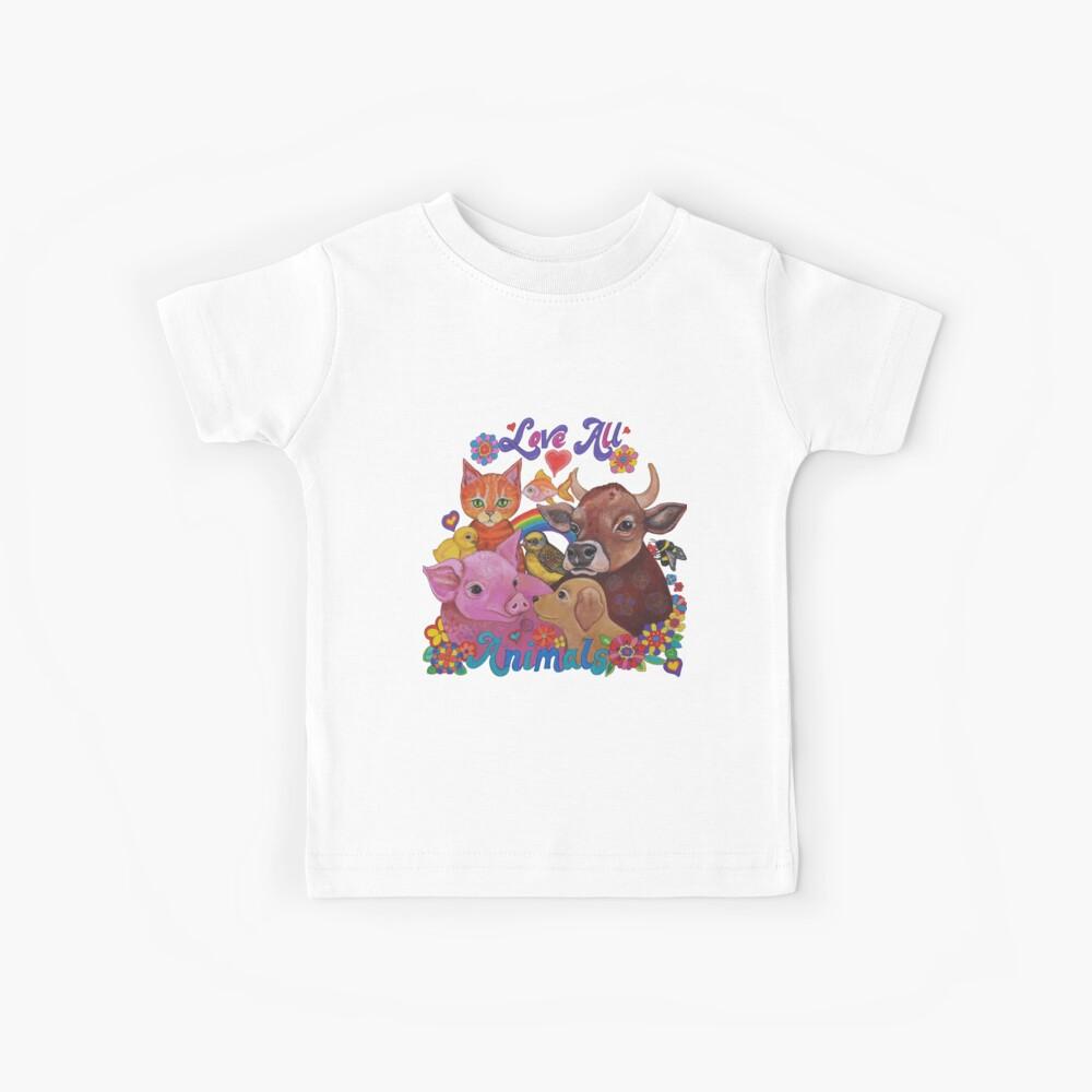 Amo a todos los animales Camiseta para niños