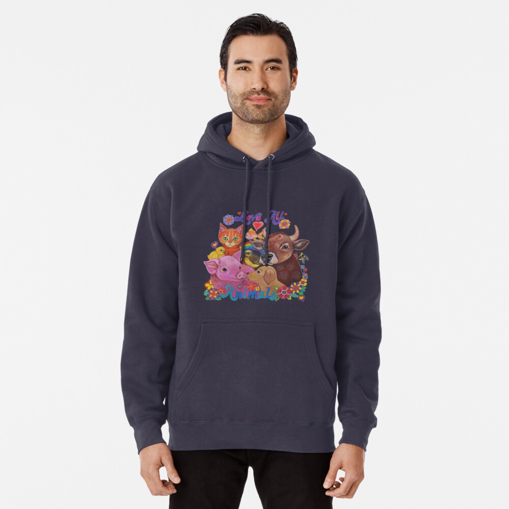 Love all Animals  Pullover Hoodie