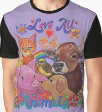 Love all Animals  Graphic T-Shirt