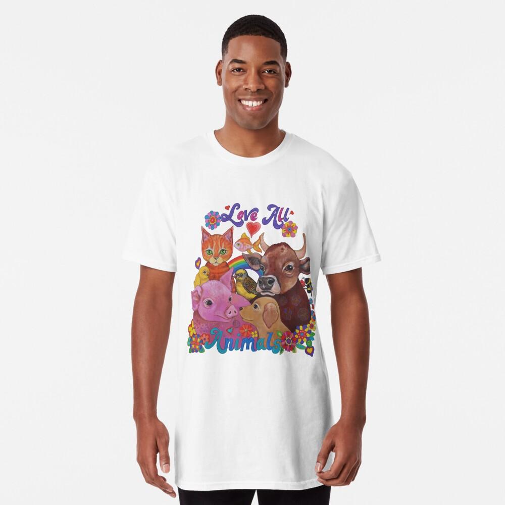 Amo a todos los animales Camiseta larga