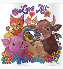 Love all Animals  Poster