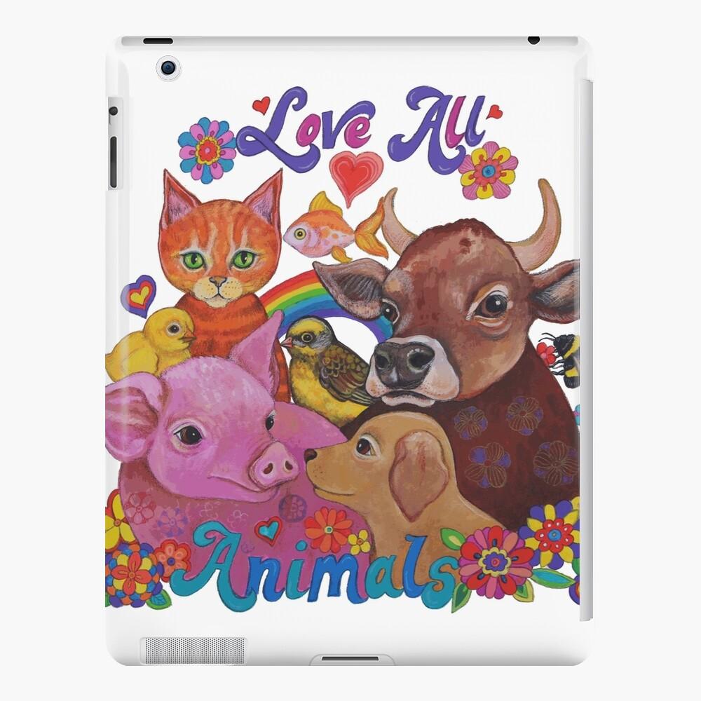Amo a todos los animales Funda y vinilo para iPad