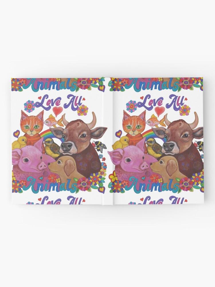 Vista alternativa de Cuaderno de tapa dura Amo a todos los animales