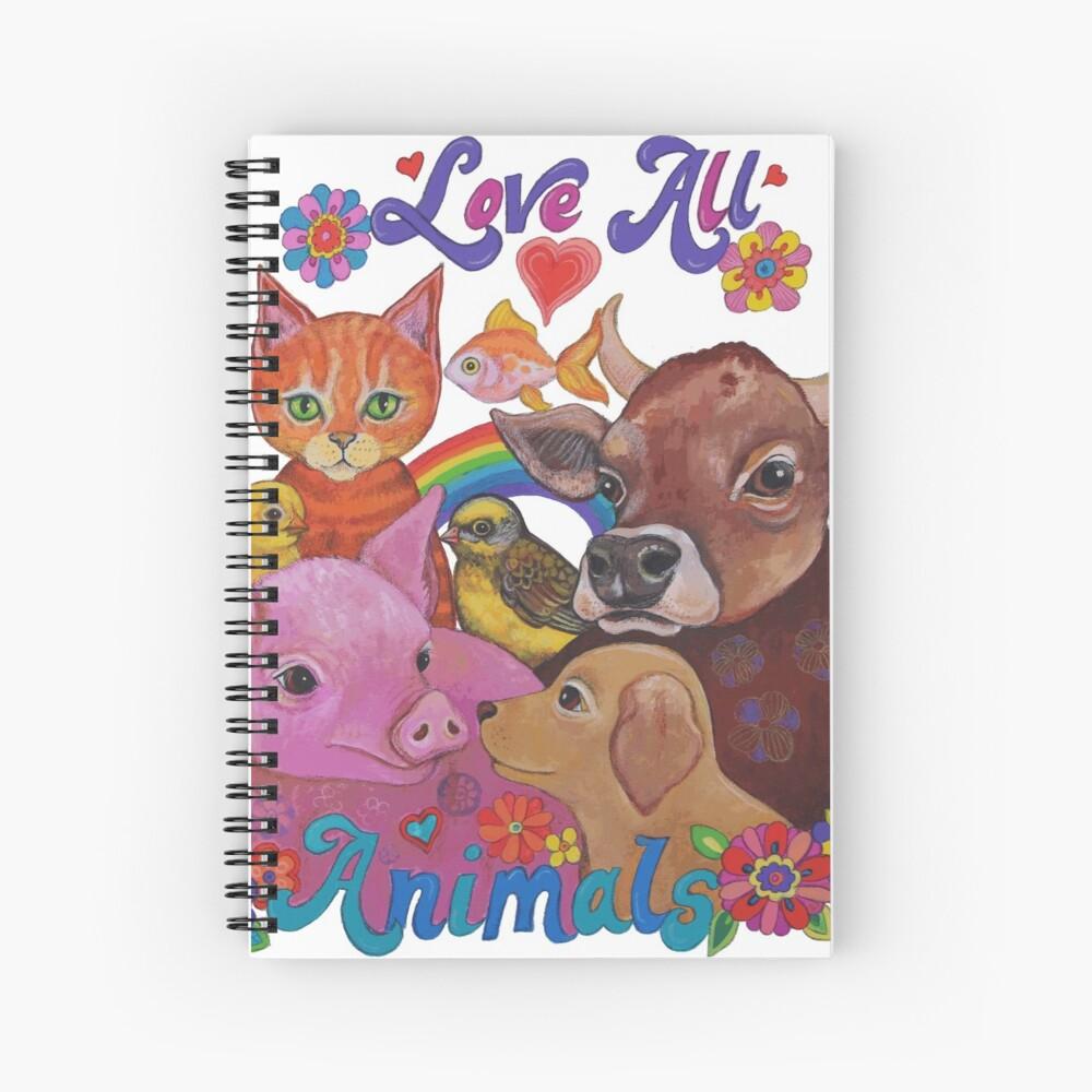 Amo a todos los animales Cuaderno de espiral