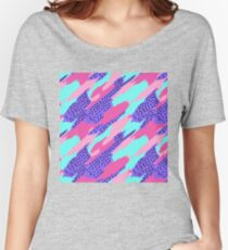 Abstract seamless geometric pattern for girls Women's Relaxed Fit T-Shirt