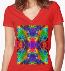 Ebru Oil. Women's Fitted V-Neck T-Shirt
