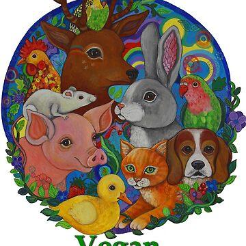Vegan because Animals Matter by LyndaBell