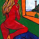 Girl At The Window by Juhan Rodrik