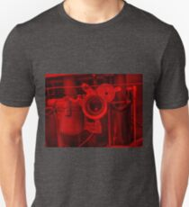 Vintage Racing Engine - Red Unisex T-Shirt