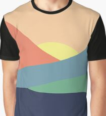 Serenity | Abstract Landscape Graphic T-Shirt