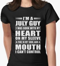I'm A July Guy Womens Fitted T-Shirt