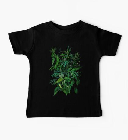"""Green & Black"", summer greenery, floral art, pastel drawing Kids Clothes"
