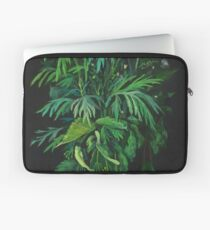 Green and Black, summer greenery, floral art, pastel drawing Laptop Sleeve