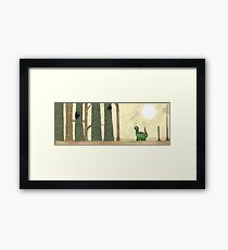 Sauropod in the woods Framed Print