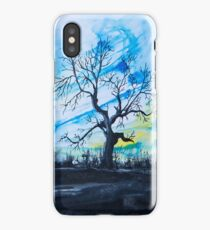 Birds above the hill iPhone Case/Skin