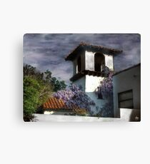 Wisteria on a Spanish Tower Canvas Print