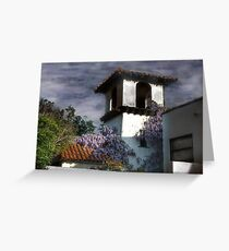 Wisteria on a Spanish Tower Greeting Card