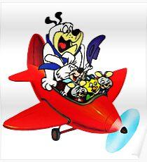 Hanna-Barbera Plane Poster