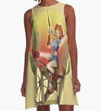 Yeehaw Classic Cowgirl Pin Up A-Line Dress