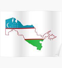 Flag of Uzbekistan Poster