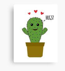 Affectionate Cactus Canvas Print