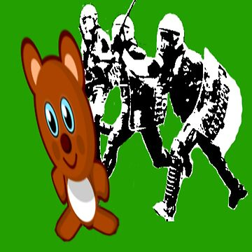 Riot Cops vs. Teddy Bear 2 | Riotshirt | Police Brutality by iNukeDesign