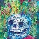 Mayan Skull by inkedinred