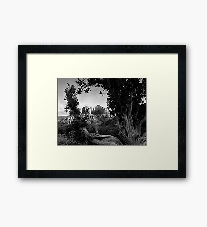 Sedona in Black & White Framed Print