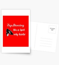 Tap Dancing Funny Design - Tap Dancing Like A Sport Only Harder Postcards