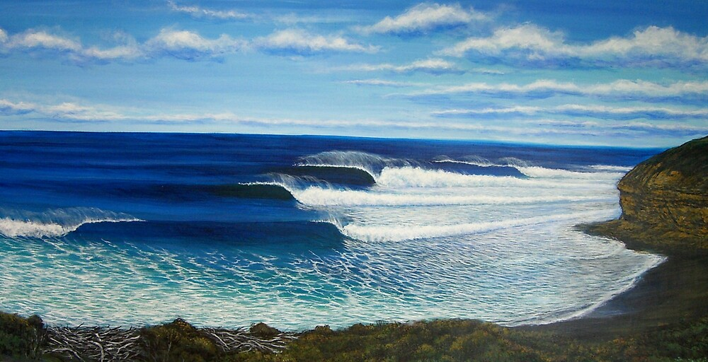 Quot Bell S Beach Australia Quot By Clark Takashima Redbubble