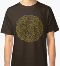 Hide The Spill - Brown and Yellow MTB Pedals Classic T-Shirt