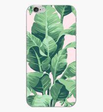 Beverly Hills Palm Leaf Banana Print Pink iPhone Case