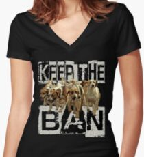 KEEP the BAN  Women's Fitted V-Neck T-Shirt