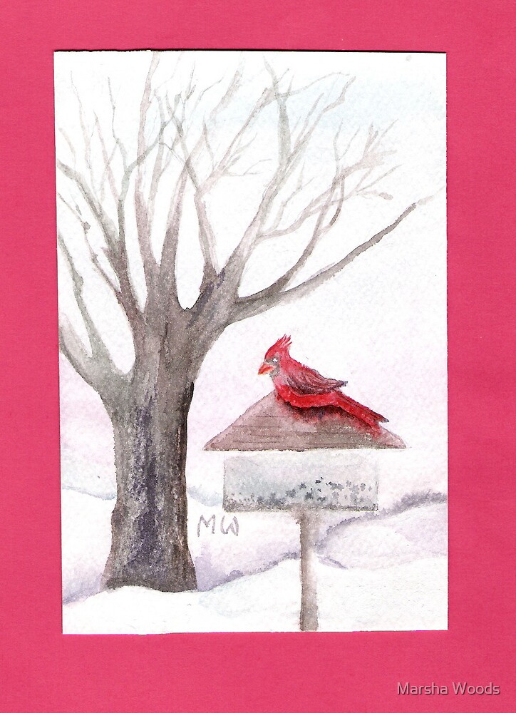 """WATERCOLOR PAINTING """"IS BREAKFAST READY YET?"""" by Marsha Woods"""