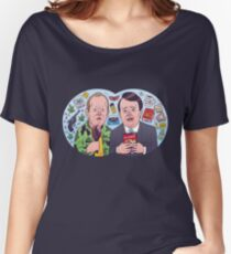 Peep Show - Mark and Jez Lense Cartoon Women's Relaxed Fit T-Shirt