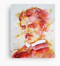 NIKOLA TESLA - watercolor portrait.4 Metal Print