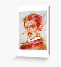 NIKOLA TESLA - watercolor portrait.4 Greeting Card