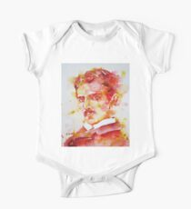 NIKOLA TESLA - watercolor portrait.4 One Piece - Short Sleeve