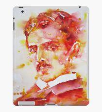 NIKOLA TESLA - watercolor portrait.4 iPad Case/Skin
