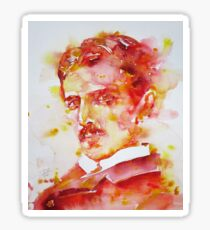 NIKOLA TESLA - watercolor portrait.4 Sticker