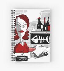 drunker@bar Spiral Notebook