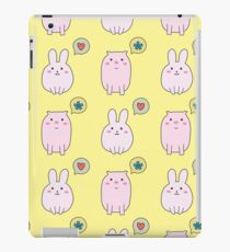cute rabbit and pig,funny doodle  iPad Case/Skin