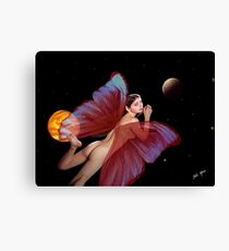 Fairy and the Stars Canvas Print