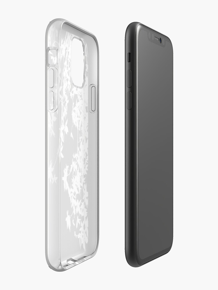Alternate view of white on black iPhone Case & Cover