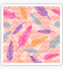 Сolorful feathers pattern Sticker