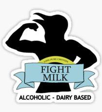 fight milk Sticker