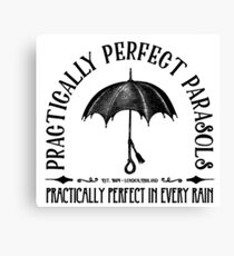 Practically Perfect Parasols Canvas Print
